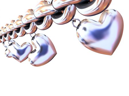Chain with  hearts photo