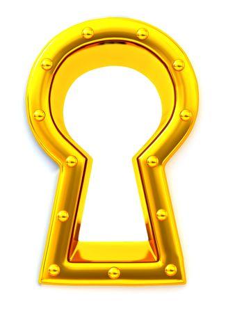Keyhole. 3d photo
