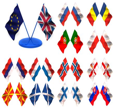 Flags. russia, romania, portugal, poland, montenegro, norway, netherland, holland, ireland, macedonia, scotland, north, finland, slovakia