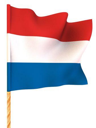 Flag. Netherland. 3d Stock Photo - 3349534