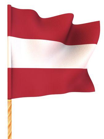 latvia: Flag. Latvia. 3d