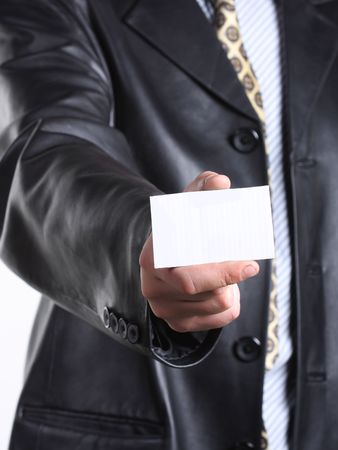Buisnessmen with message on hand. Stock Photo - 3349595