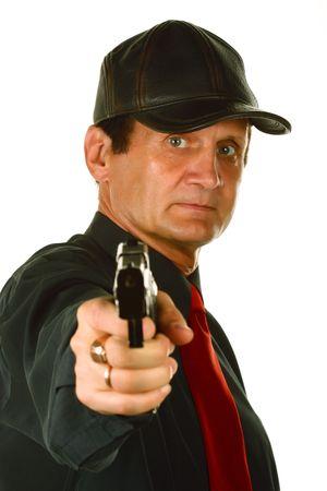 character assassination: Men with gun