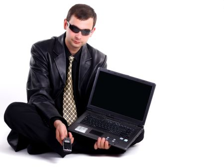 Man with laptop photo