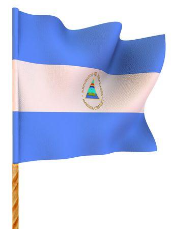 Bandera. Nicaragua. 3d  Foto de archivo - 3444529