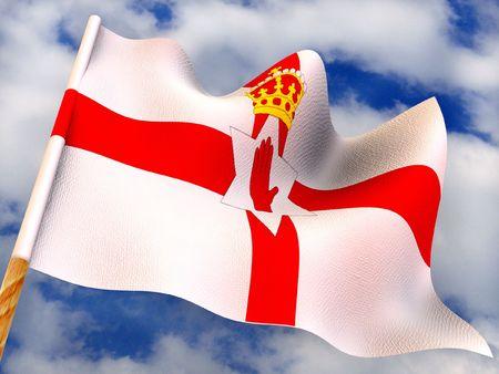 nothern ireland: Flag. Nothern  Ireland. 3d