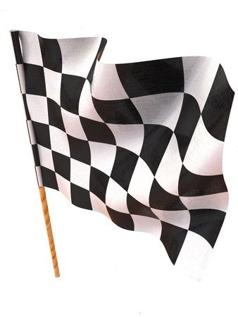 sidecar motocross racing: Checkered flag Stock Photo