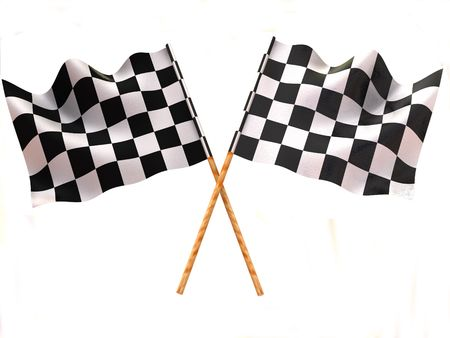 checker flag: Checkered flag Stock Photo