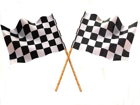 formula one racing: Checkered flag Stock Photo
