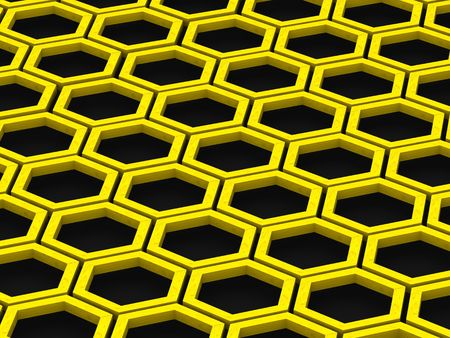 built structure: Honeycomb. Background. 3d Stock Photo