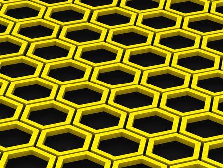abejas panal: Nido de abeja. Fondo. 3d
