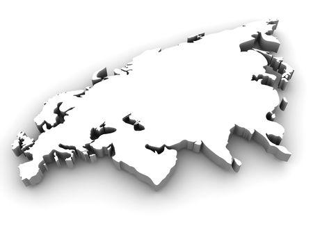 Eurasia. 3d photo