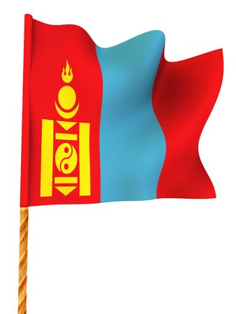 mongolia: Flag. Mongolia.  3d Stock Photo