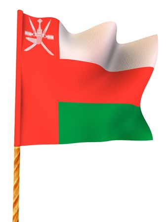 oman background: Flag. Oman.  3d Stock Photo