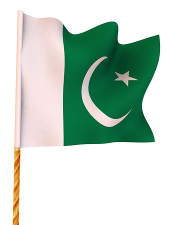 flag of pakistan: Flag. Pakistan  3d