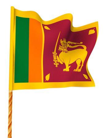 lanka: Flag. Sri Lanka.  3d