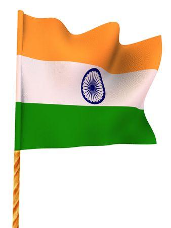 india 3d: Flag. India.  3d