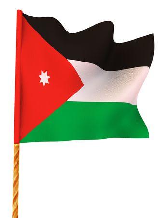 Flag. Jordania.  3d