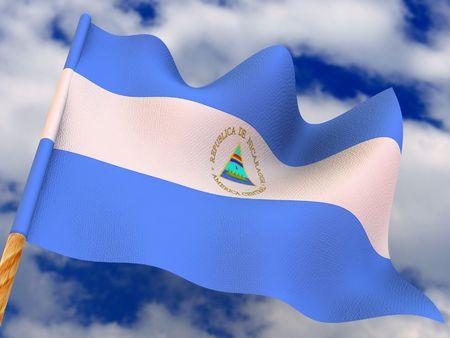 Flag. Nicaragua. 3d photo