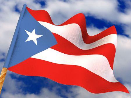 puertorico: Flag. Puerto-Rico. 3d