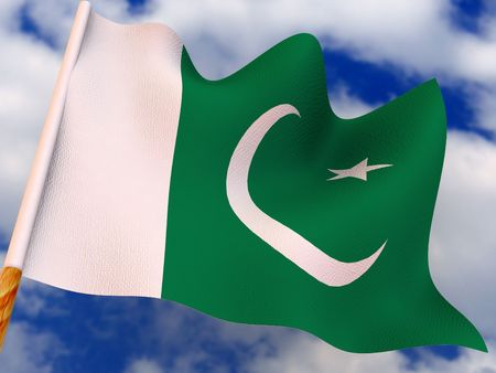 flag of pakistan: Flag. pakistan.  3d