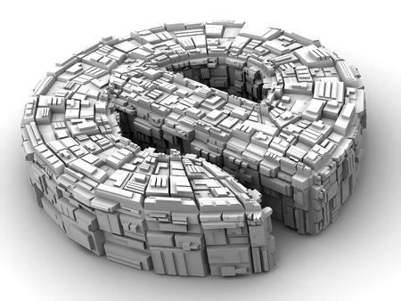 http: Symbol of internet. 3d