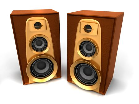 Great loud speakers. 3d photo