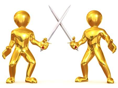 Battle Swords. 3d photo