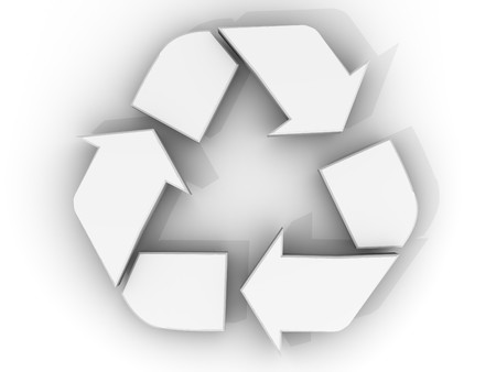 Recycle sign. 3d photo