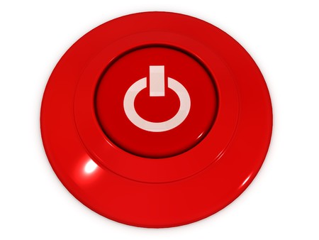 Button Power. 3d Stock Photo - 4330459
