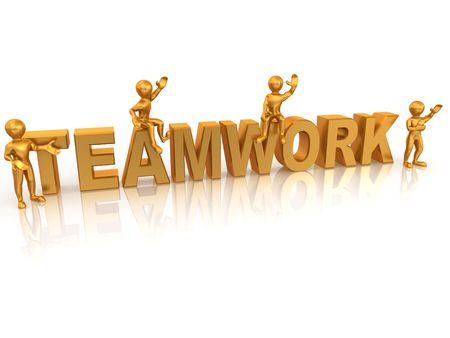 Teamwork. 3d photo