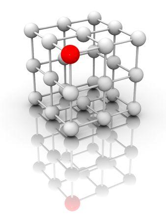 Molecule. 3d Stock Photo - 4703866