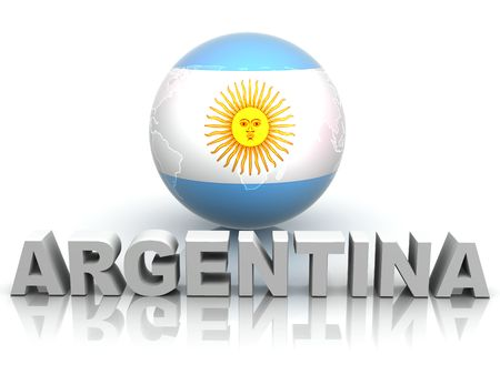 map of argentina: Symbol of Argentina. 3d Stock Photo