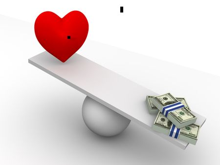 Love or Money. 3d photo