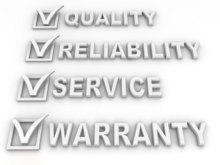 quality guarantee: Questionnaire. 3d  Stock Photo