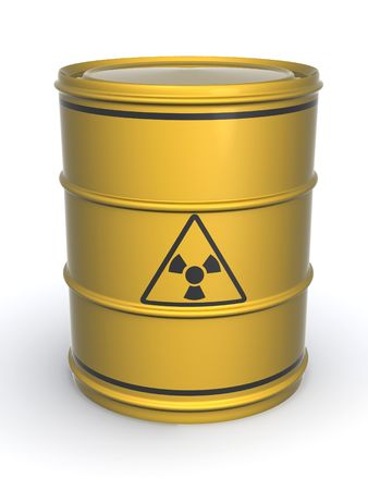 Barrel with sign Radiation. 3d Stock Photo - 4910562
