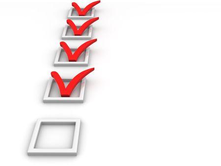 Questionnaire. 3d Stock Photo - 4910530