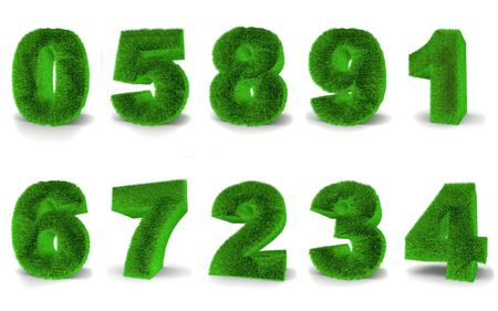 Numbers from grace. 3d Stock Photo - 4966424