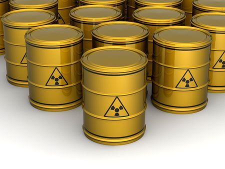 Barrel with sign Radiation. 3d Stock Photo - 5035122