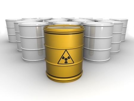 Barrel with sign Radiation. 3d Stock Photo - 5035152