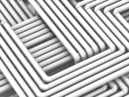 plastic texture: Tubes. 3d Stock Photo