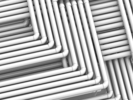 plastic pipe: Tubes. 3d Stock Photo