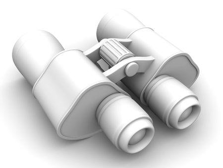Binoculars. 3d photo