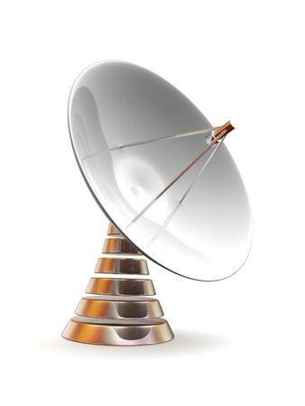 通信: 衛星放送受信アンテナ。3 d