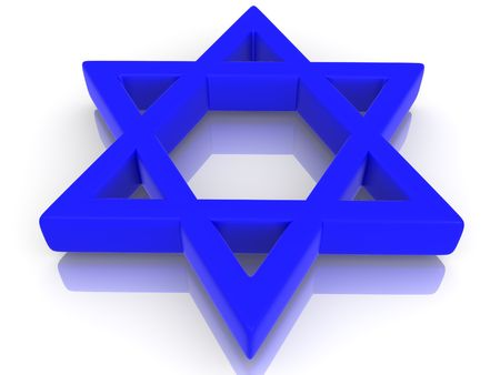 Symbol of Israel. 3d Stock Photo - 5341135