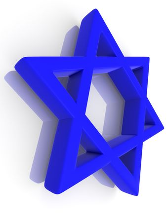 Symbol of Israel. 3d photo
