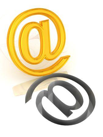 ecomerce: Mail. Symbol. 3d