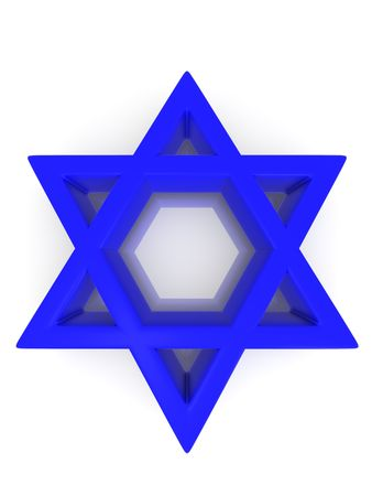 Symbol of Israel. 3d Stock Photo - 5456797