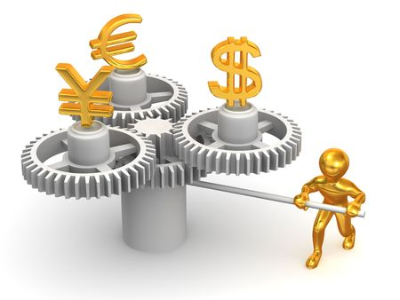 currency exchange: Currency exchange. 3d Stock Photo