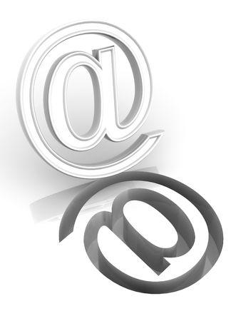 Mail. Symbol. 3d photo
